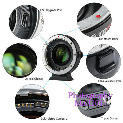 Viltrox EF-EOS M2 II AF Lens Adapter for Canon EF Lens to Canon EOS-M50 M3 M6 M2 10