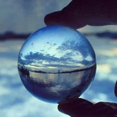 40-100mm Clear Glass Crystal Ball Healing Sphere Photography Photo Ball Gifts 9