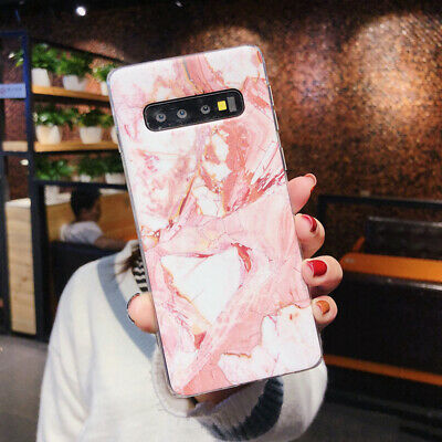 For Samsung Galaxy S10+ S10e S9 S8 Matte Marble Pattern Soft Silicone Case Cover 6