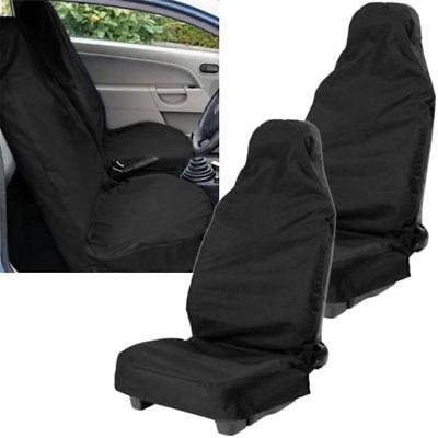 FORD FIESTA MK7 HEAVY DUTY WATERPROOF BLACK CAR VAN SEAT COVERS PAIR 1+1 11+