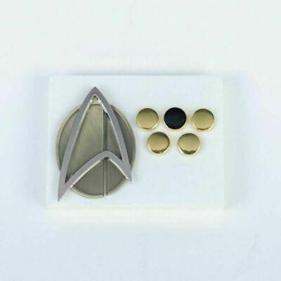 Star Trek Picard Combadge Rank Pips Set Command Science Engineering Pin Brooch 2