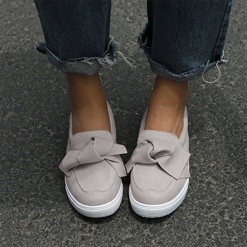 good selling best wholesaler release info on WOMEN BOWKNOT SNEAKERS Summer Slip On Flat Shoes Trainers ...