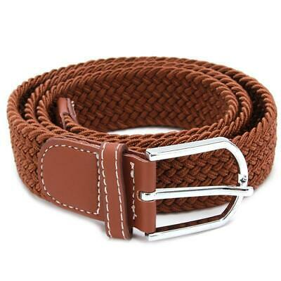 Belt Men Braided Stretch Belt No Holes Elastic Fabric Woven Belts BL3 9