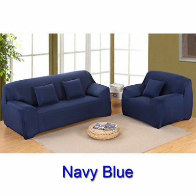 1/2/3/4 Sofa Covers Couch Slipcover Stretch Elastic Fabric Settee Protector Fit 6