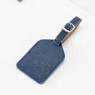 Leather Luggage Tag Travel Suitcase Bag ID Tag Address Label Baggage Card Holder 12