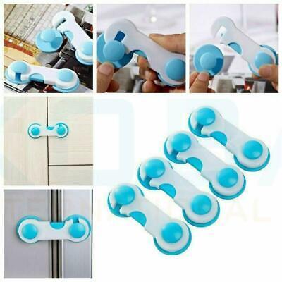 Child Safety Locks Cupboard Baby Proof Cabinet Drawer Kitchen Toilet Seat Straps 3