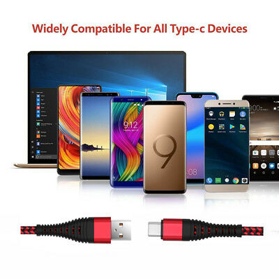 UK 1~3M Fast USB Charger Charging Cable For Samsung Galaxy Phone S5 S6 S7 Edge + 7