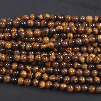 Natural Gemstone Round Spacer Loose Beads 4MM 6MM 8MM 10MM  Assorted Stones 4