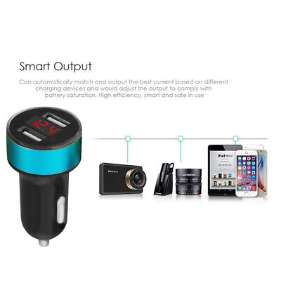 5V/3.1A Dual USB Port Car Charger Quick Charge Adapter LED for iPhone Samsung LG 7