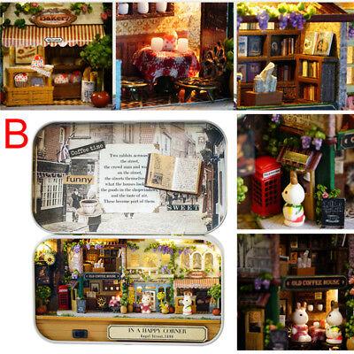 DIY Dollhouse Miniature Furniture 3D Doll House Kit Theater Box New Children Toy 7