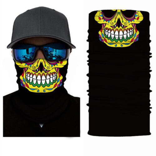 Skull Cycling Motorcycle Neck Tube Ski Snowboard Scarf Face Mask Balaclava Party
