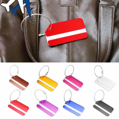 New 1PC Aluminium Luggage Tag Suitcase Label Name Address ID Bag Baggage Tag Hot 11