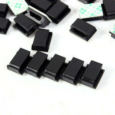 50x Car Wire Cord Cable Holder Tie Clips Fixer Organizer Drop Adhesive ClamRKUS