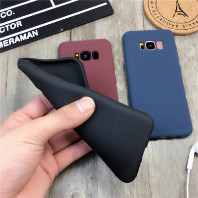 For Samsung Galaxy S8 S7 S9 J5 Slim Soft Matte Rubber Silicone Phone Case Cover 4