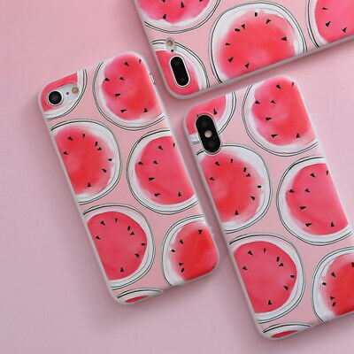 Shockproof Slim Soft TPU Matte Floral Pattern Cover Case For iPhone X 8 6 7 Plus 8