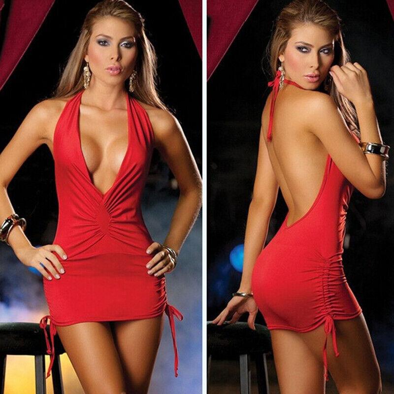 Women Sexy Lingerie Leotard G-String Underwear Sleepwear Bodysuit Babydoll Dress 6