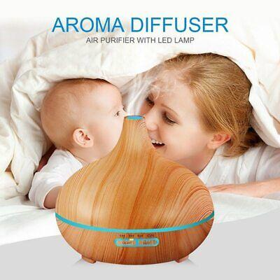 Diffusore Di Aromi Umidificatore Aromaterapia 400Ml Oli Essenziali Telecomando 12