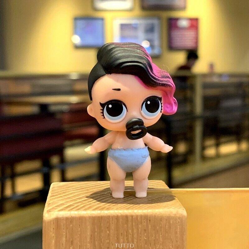 LOL Surprise Doll * Series 2 * Lil Little Sisters * Rocker Pink & Black Hair 7