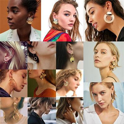 Boho Women Simple Geometric Circle Ear Stud Drop Dangle Earrings Fashion Designs 3