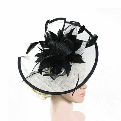 Feather Flower Hair Clip Women Vintage Fascinator Wedding Vintage Headpiece 9