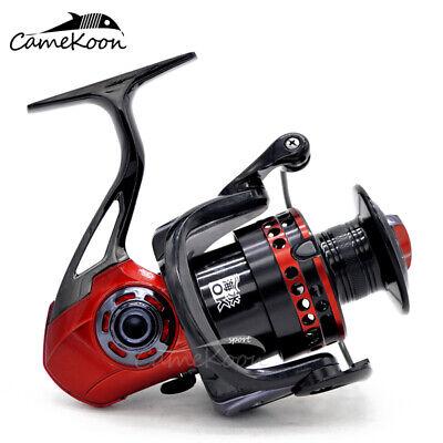 CAMEKOON Spinning Reel Metal Frame 5.2:1 Gear Ratio Fresh//Saltwater Fishing Reel