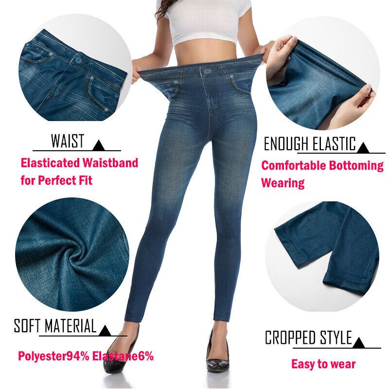Pencil Pants Leggings Women Jeans Denim Design Pencil Pants Leggings High Waist 5