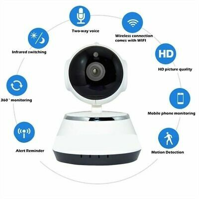 Wireless HD 720P Pan Baby Pet Monitor Network Security IP Camera IR WiFi Webcam 4