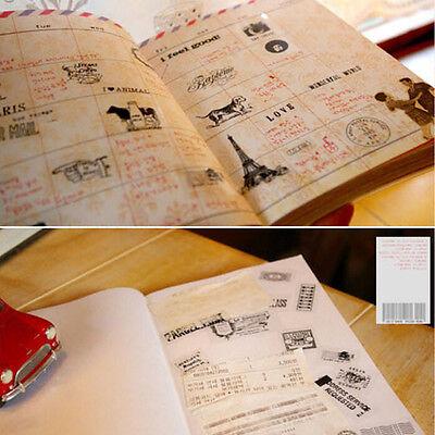 6 * Vintage Tagebuch Dekor Scrapbooking Transparent Stationery Planner*