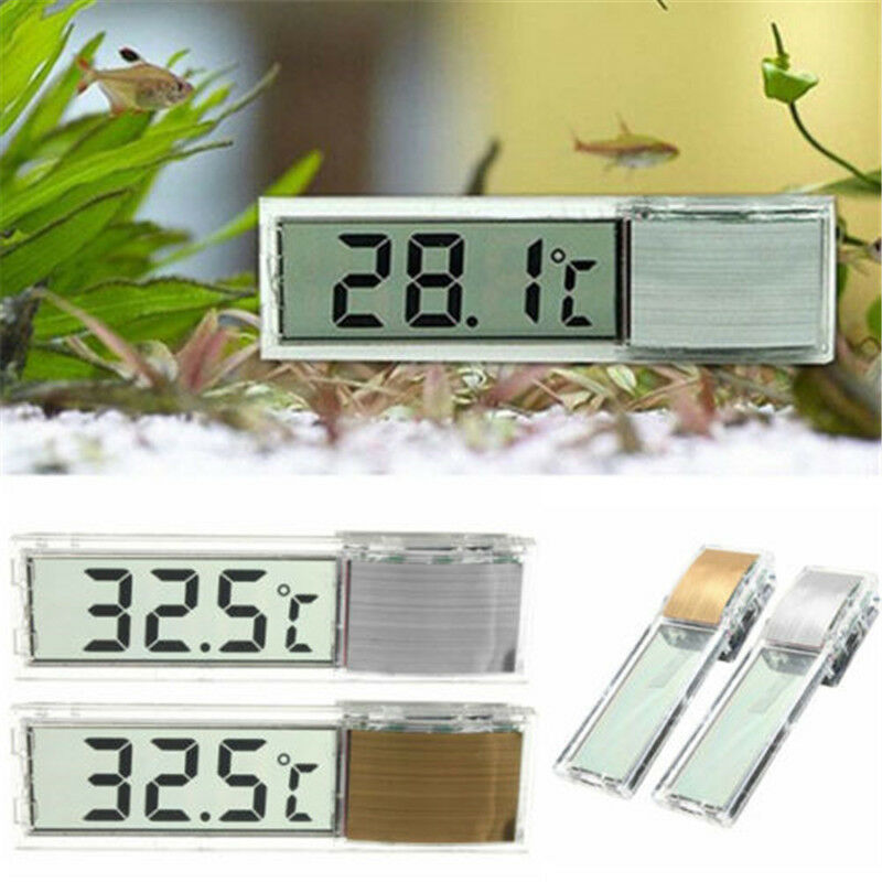 1pc LCD 3D Crystal Digital Measurement Fish Tank Reptile Aquarium Thermometer