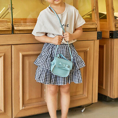 Child Girl Princess Bow Leather Handbag Crossbody Messenger Shoulder Bag Purse 8