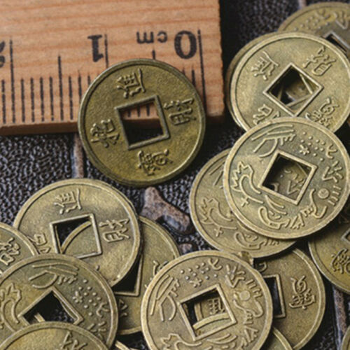 100Pcs Feng Shui Coins Ancient Chinese I Ching Coins For Health Wealth Charm El 2