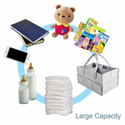 Baby Diaper Organizer Caddy Changing Nappy Kids Storage Carrier Bag Large Pocket 7