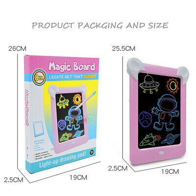 MagicToy Pad Light Up Drawing Pad with Neon Pen Creative Glow Art Light Effect 7