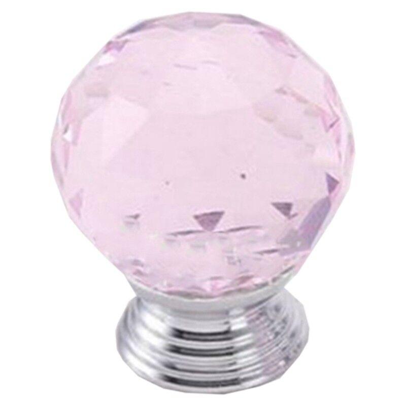 12X Crystal Diamond Glass Pull Handle Door Knobs Drawer Cupboard Cabinet Set