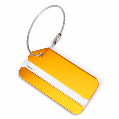New 1PC Aluminium Luggage Tag Suitcase Label Name Address ID Bag Baggage Tag Hot 7