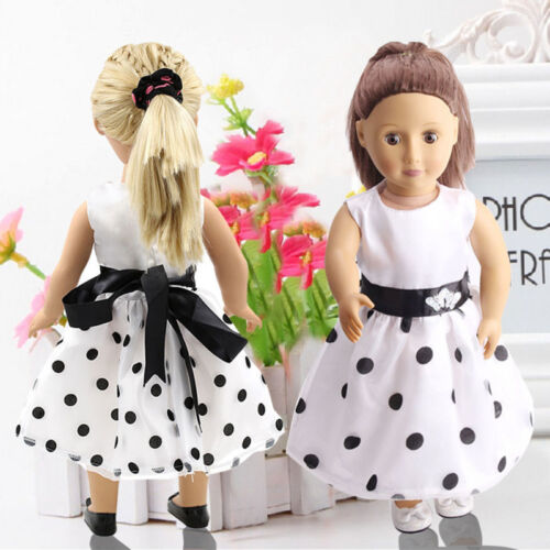 df5d5c501324 White Summer Party Dress Clothes fit 18   Doll Girl Our Generation Dolls HOT  2 2 of 12 ...