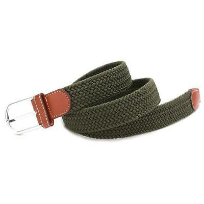 Belt Men Braided Stretch Belt No Holes Elastic Fabric Woven Belts BL3 6