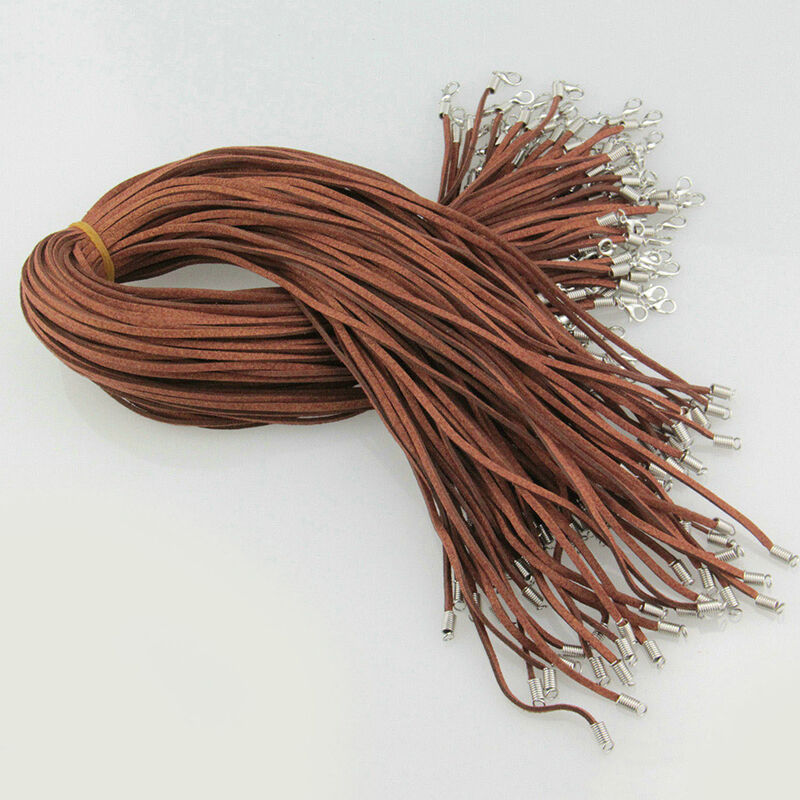 10 PCS Suede Leather String Necklace Cords With Clasp DIY Jewelry Accessories 6