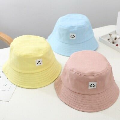 Unisex Foldable Smile Bucket Hat Outdoor Sunscreen Cap Smile Face Fisherman Hats 3