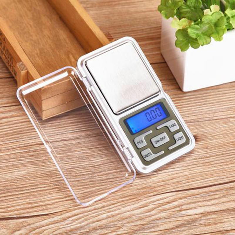 Digital LCD Scale Electronic Balance Weighing Jewelry Pocket Gram 0.01g-500g 7