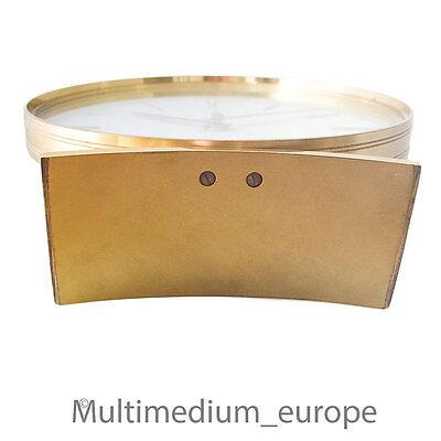 Junghans Electora Designer Tischuhr Messing 60er Jahe desk clock brass 60s ❀☺❀