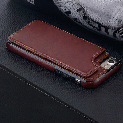 huge selection of f9f59 70088 LUXURY FLIP LEATHER Card Wallet Case Shockproof Back Cover for iPhone 5 6 7  Plus
