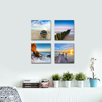 Canvas Wall Art Print Painting Pictures Home Room Decor Sea Beach Landscape 5