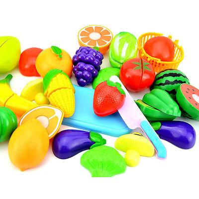 9pcs Baby Rollenspiel Küche Obst Gemüse Essen Schneiden Kleinkindspielzeug Lebensmittel