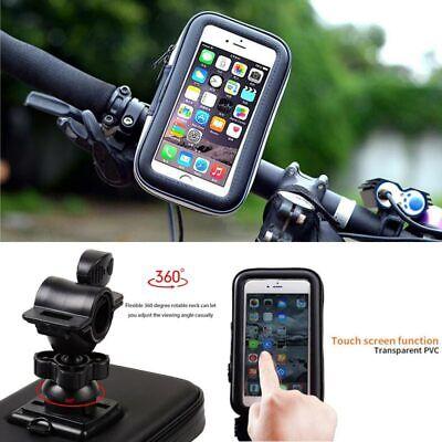360° Bicycle Motor Bike Waterproof Phone Case Mount Holder For All Mobile Phones 2
