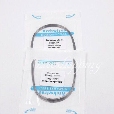 1 Pack Dental Orthodontic Arch Wire Oval Form Stainless Steel Round U/L All Size