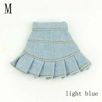 """Blue Jeans Casual Wear Clothes For 11.5"""" Doll Kids Toy A-line Skirt For 1/6 Doll 8"""