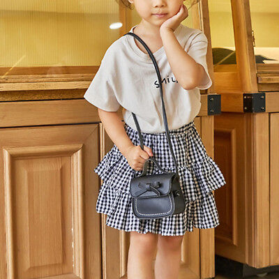 Child Girl Princess Bow Leather Handbag Crossbody Messenger Shoulder Bag Purse 4