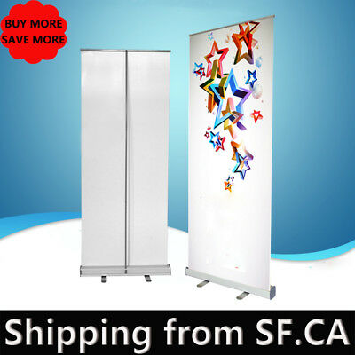 "60"" x 80"" Retractable Roll Up Banner Stand Trade Show Pop Up Display Stand"