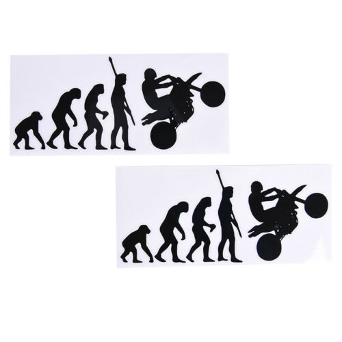 Human Evolution Motorcycle Car Stickers Personalized Vinyl Reflective Decals W